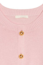 Fine-knit cotton cardigan - Pink - Ladies | H&M IE 3