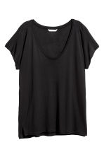 Viscose top - Black - Ladies | H&M 2