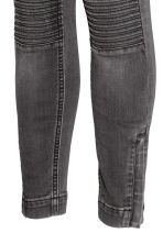 MAMA Skinny Biker Jeans - 牛仔灰 - Ladies | H&M CN 4