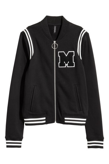 Baseball jacket - Black -  | H&M IE