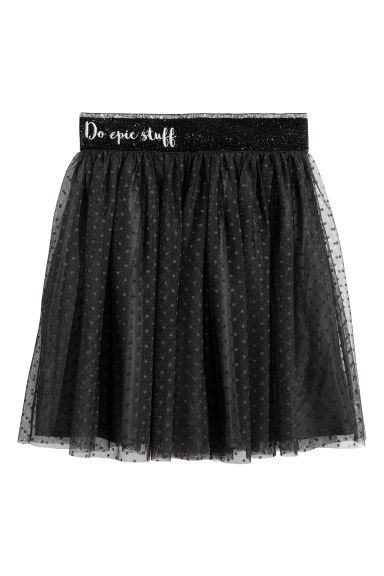 Tulle skirt - Black/Glittery - Kids | H&M