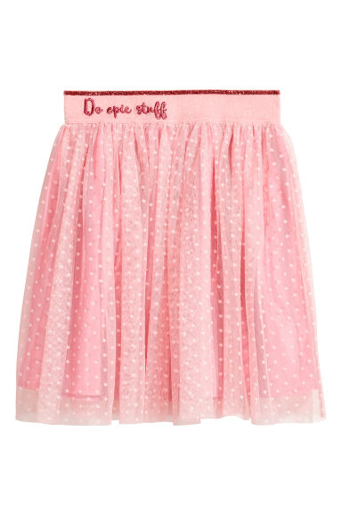 Tulle skirt - Powder pink/Spotted - Kids | H&M