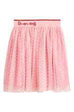 Tulle skirt - Powder pink/Spotted - Kids | H&M 2