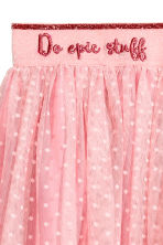 Tulle skirt - Powder pink/Spotted - Kids | H&M CN 3