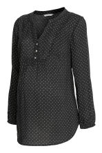 MAMA Patterned Blouse - Black/white dotted - Ladies | H&M CA 2
