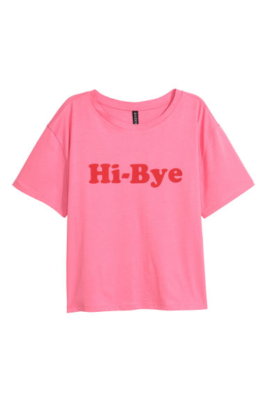 Printed jersey top - Pink -  | H&M GB