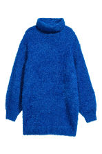 Knitted polo-neck dress - Bright blue - Ladies | H&M 2