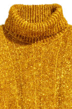 Knitted polo-neck dress - Gold-coloured - Ladies | H&M CN 3