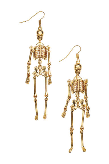 Long earrings - Gold-coloured/Skeleton - Ladies | H&M GB 1
