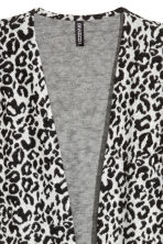 Jacquard-knit cardigan - Light grey/Leopard print - Ladies | H&M CN 2