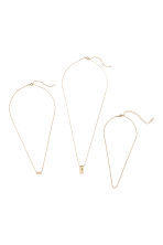 3-pack necklaces - Gold-coloured - Ladies | H&M 1