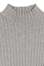 Rib-knit jumper - Grey marl - Ladies | H&M 3