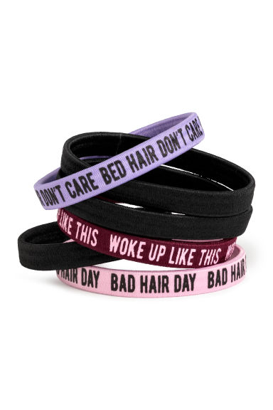 6-pack hair elastics - Light pink -  | H&M