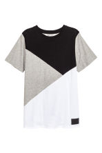撞色T恤 - Grey marl -  | H&M 2