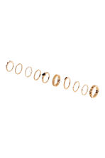 10-pack rings - Gold-coloured - Ladies | H&M CN 1