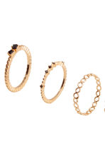 10-pack rings - Gold-coloured - Ladies | H&M CN 2