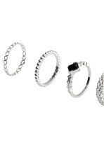 10-pack rings - Silver-coloured - Ladies | H&M 2