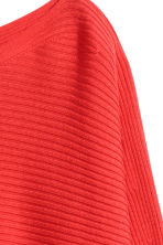 Cross-ribbed jumper - Coral red - Ladies | H&M 3