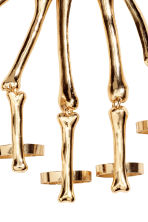 Skeleton-shaped hand chain - Gold-coloured/Skeleton - Ladies | H&M CN 2
