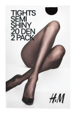 2-pack 20 denier tights - Black - Ladies | H&M 1