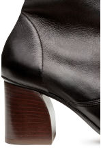 Leather ankle boots - Black - Ladies | H&M CN 3