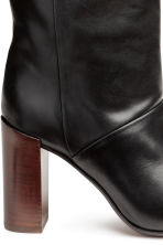 Knee-high leather boots - Black - Ladies | H&M CN 4