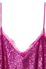 Sequined strappy top - Magenta - Ladies | H&M 3
