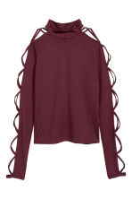 Jersey top - Burgundy - Ladies | H&M IE 2