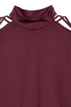 Jersey top - Burgundy - Ladies | H&M IE 3