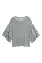 Knitted top - Grey - Ladies | H&M CN 2