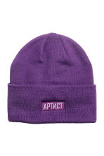 Fine-knit hat - Purple - Men | H&M CN 1
