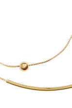 2-pack gold-plated bracelets - Gold-coloured - Ladies | H&M CN 2