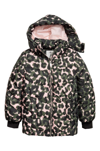 Padded jacket - Dark green/Patterned -  | H&M