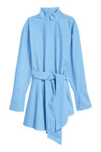 Flounce-hemmed cotton shirt - Light blue - Ladies | H&M 2