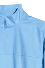 Flounce-hemmed cotton shirt - Light blue - Ladies | H&M 3