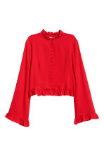 Frilled blouse - Red - Ladies | H&M 2