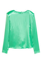 Satin top - Light green - Ladies | H&M GB 2