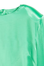 Satin top - Light green - Ladies | H&M GB 3