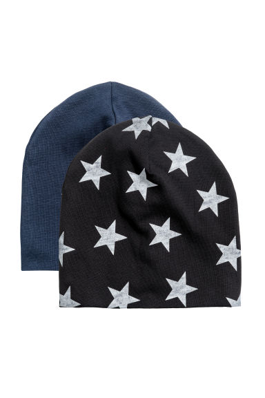 2-pack jersey hats - Black/Stars - Kids | H&M 1