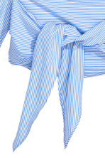 H&M+ Wrapover cotton blouse - Blue/White striped - Ladies | H&M CN 2