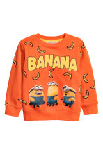 Printed sweatshirt - Orange/Minions -  | H&M CN 2