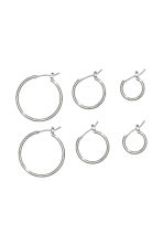 3 pairs earrings - Silver-coloured - Men | H&M GB 1
