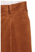 Wide corduroy trousers - Brown - Ladies | H&M CN 3