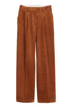 Wide corduroy trousers - Brown - Ladies | H&M CN 2