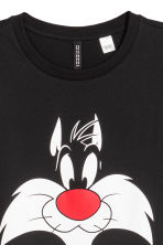 寬鬆T恤 - 黑色/Looney Tunes - Ladies | H&M 2