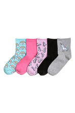 5-pack socks - Pink/Unicorn - Ladies | H&M 1