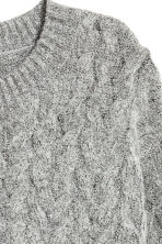 Cable-knit jumper - Grey marl - Ladies | H&M CN 3