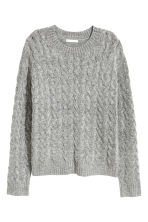 Cable-knit jumper - Grey marl - Ladies | H&M GB 2