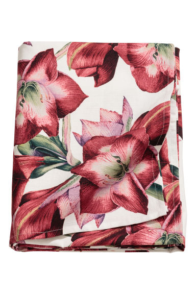 Christmas-motif tablecloth - White/Floral - Home All | H&M CN 1