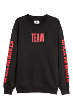 Sweatshirt with print motifs - Black - Men | H&M 1